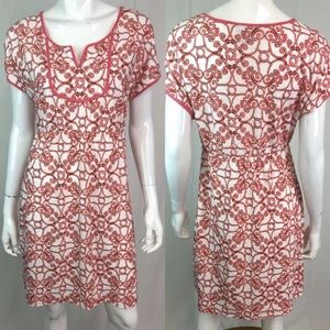 Tommy Bahama Geometric Print Cotton Shift Dress